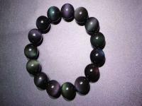 彩虹眼黑曜石的功效与作用,黑曜石手链的佩戴禁忌。
